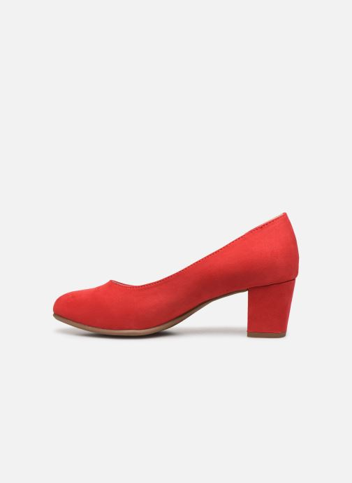 High heels Jana shoes JELICA Red front view