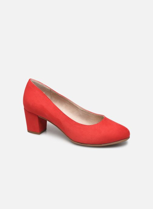 High heels Jana shoes JELICA Red detailed view/ Pair view