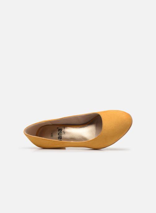 Escarpins Jana shoes JELICA Jaune vue gauche