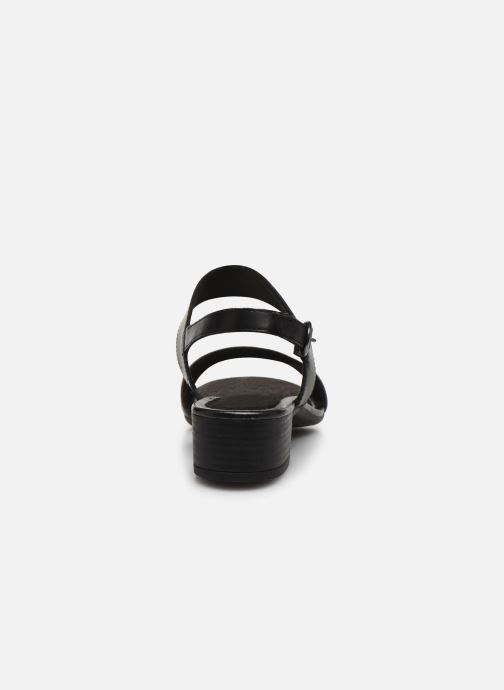 Sandalias Jana shoes JINI Negro vista lateral derecha