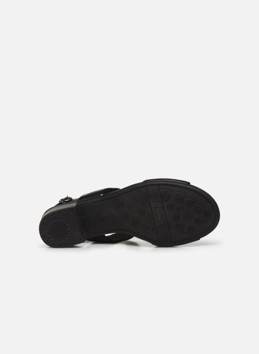 Sandales et nu-pieds Jana shoes JINI Noir vue haut