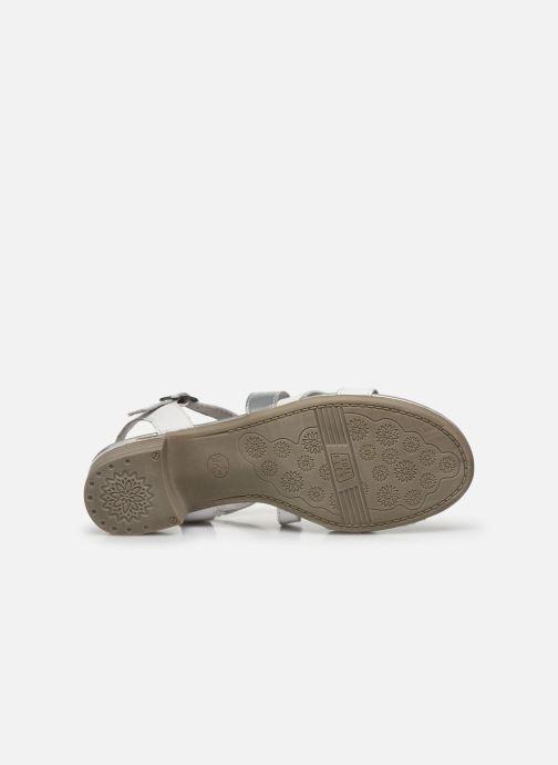 Sandalen Jana shoes JACK weiß ansicht von oben