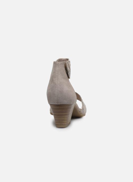 Sandalias Jana shoes JALA Gris vista lateral derecha