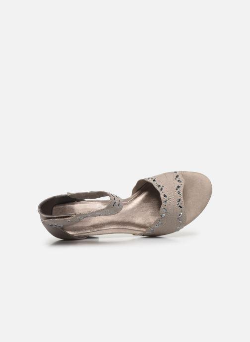Sandalias Jana shoes JALA Gris vista lateral izquierda