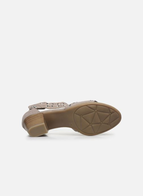 Sandales et nu-pieds Jana shoes JALA Gris vue haut