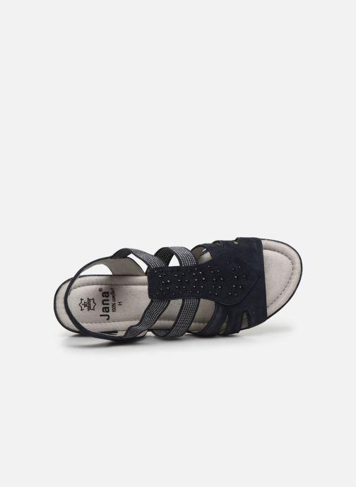 Sandales et nu-pieds Jana shoes JIMY Bleu vue gauche
