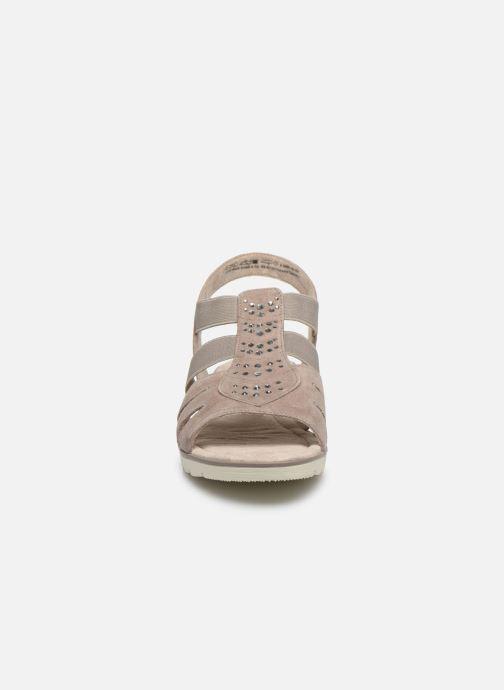 Sandalen Jana shoes JIMY grau schuhe getragen
