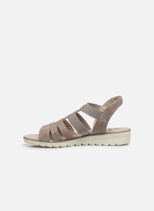 Sandalen Jana shoes JIMY grau ansicht von vorne