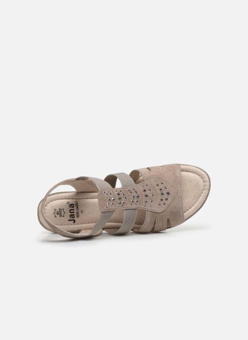 Sandalen Jana shoes JIMY grau ansicht von links