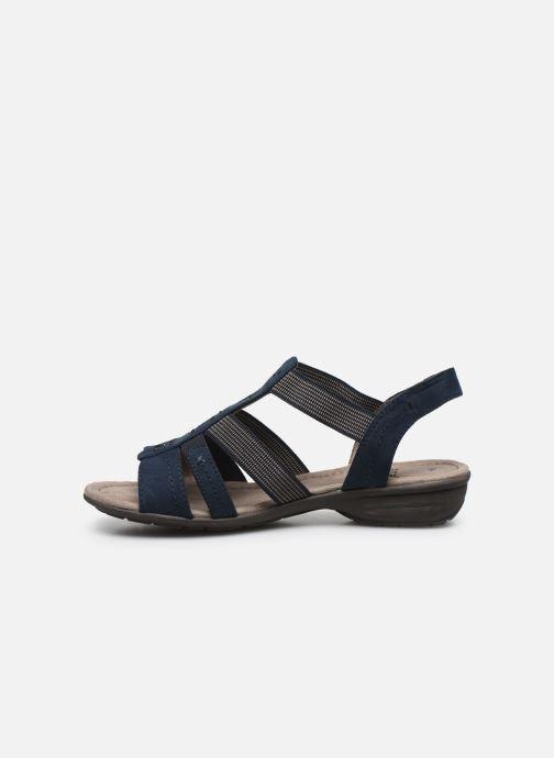 Sandales et nu-pieds Jana shoes JANE Bleu vue face
