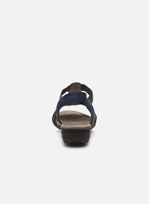 Sandales et nu-pieds Jana shoes JANE Bleu vue droite