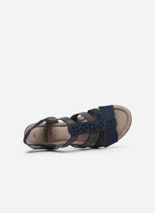 Sandales et nu-pieds Jana shoes JANE Bleu vue gauche