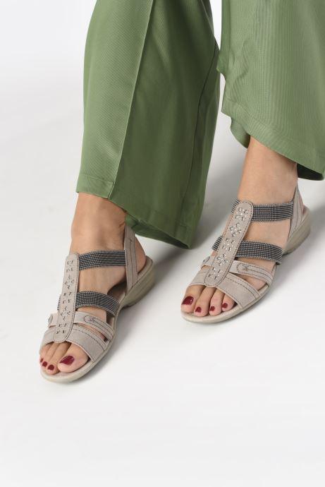 Sandalen Jana shoes JANE grau ansicht von unten / tasche getragen
