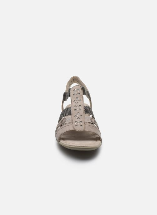 Sandalen Jana shoes JANE grau schuhe getragen