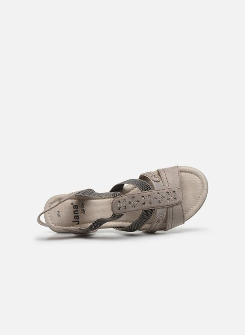 Sandalen Jana shoes JANE grau ansicht von links