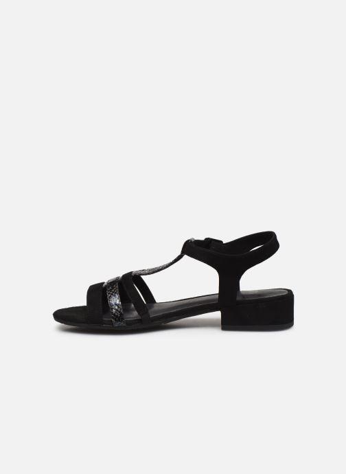 Sandales et nu-pieds Jana shoes JERLI Noir vue face