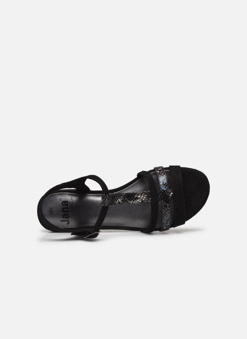 Sandales et nu-pieds Jana shoes JERLI Noir vue gauche