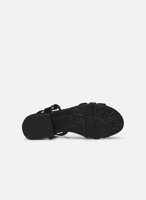 Sandales et nu-pieds Jana shoes JERLI Noir vue haut