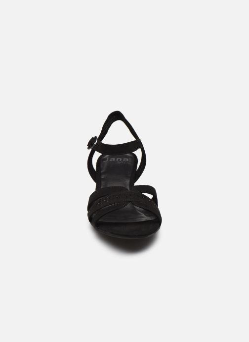 Sandales et nu-pieds Jana shoes JERLI HIGH Noir vue portées chaussures