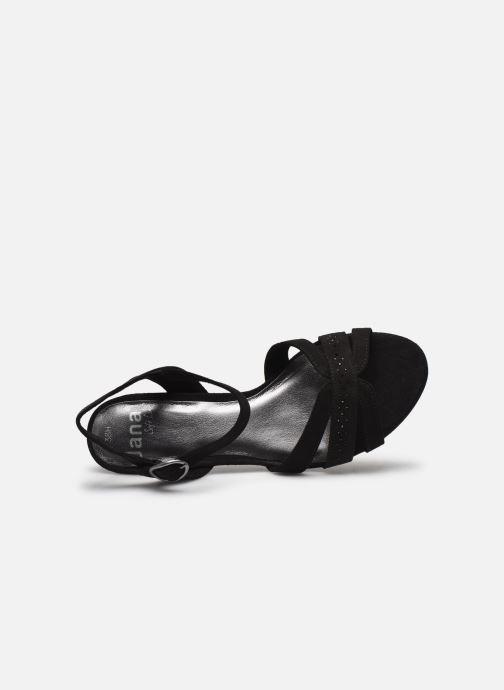 Sandales et nu-pieds Jana shoes JERLI HIGH Noir vue gauche