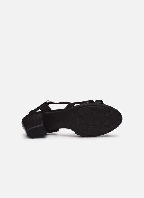 Sandales et nu-pieds Jana shoes JERLI HIGH Noir vue haut