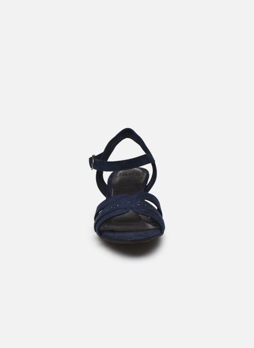 Sandali e scarpe aperte Jana shoes JERLI HIGH Azzurro modello indossato
