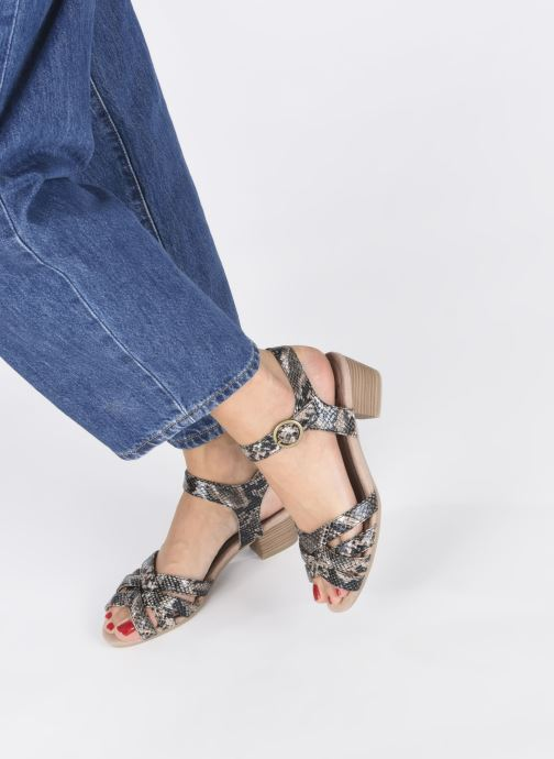 Sandales et nu-pieds Jana shoes JOE Marron vue bas / vue portée sac