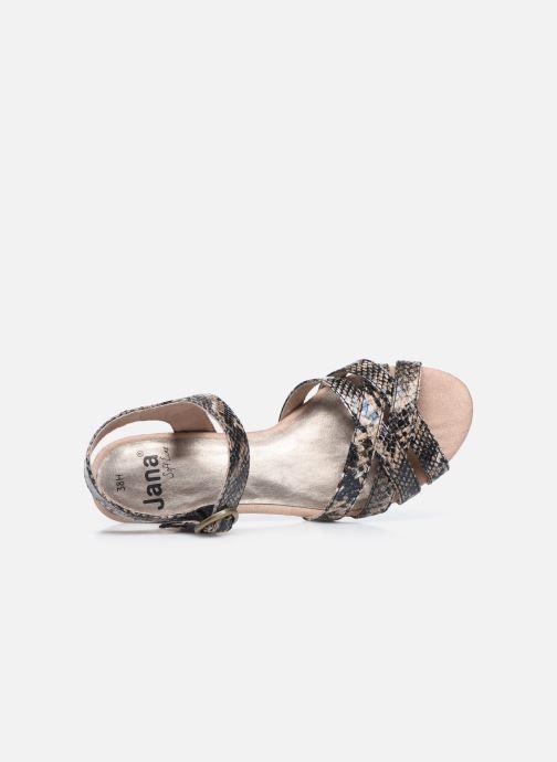 Sandales et nu-pieds Jana shoes JOE Marron vue gauche