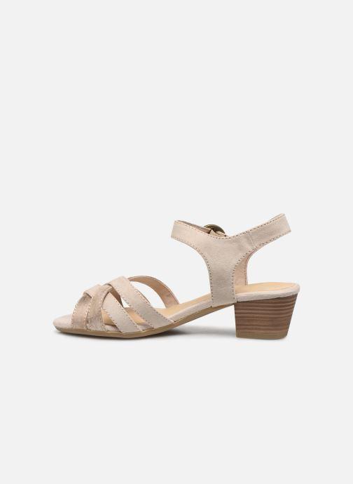 Sandalias Jana shoes JOE Beige vista de frente