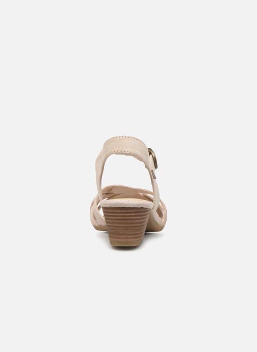 Sandalias Jana shoes JOE Beige vista lateral derecha