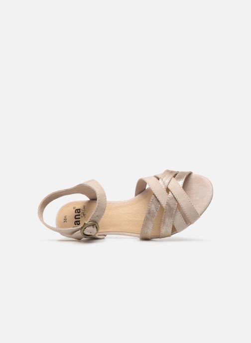 Sandalias Jana shoes JOE Beige vista lateral izquierda