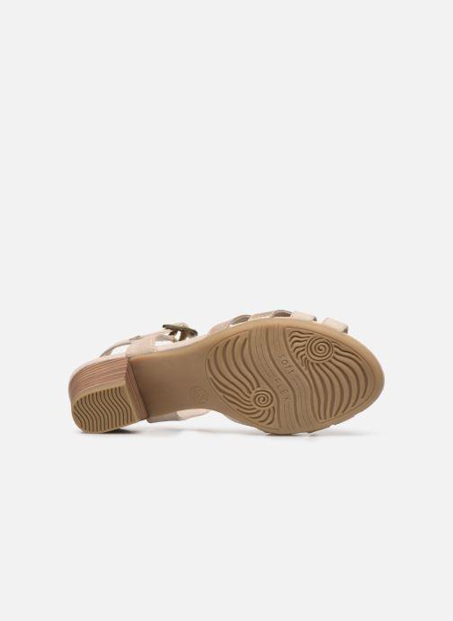 Sandalias Jana shoes JOE Beige vista de arriba