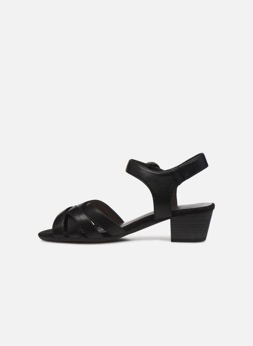 Sandales et nu-pieds Jana shoes JYST Noir vue face
