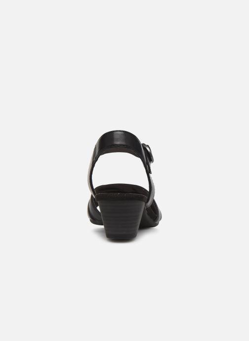 Sandales et nu-pieds Jana shoes JYST Noir vue droite