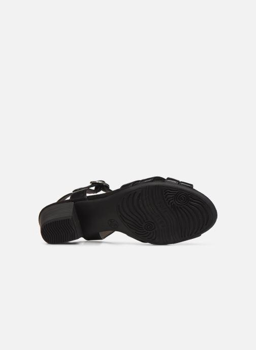 Sandales et nu-pieds Jana shoes JYST Noir vue haut