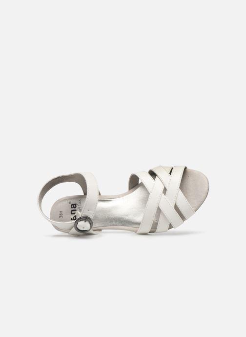 Sandali e scarpe aperte Jana shoes JYST Bianco immagine sinistra
