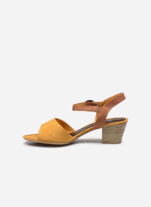 Sandales et nu-pieds Jana shoes JAPH Jaune vue face