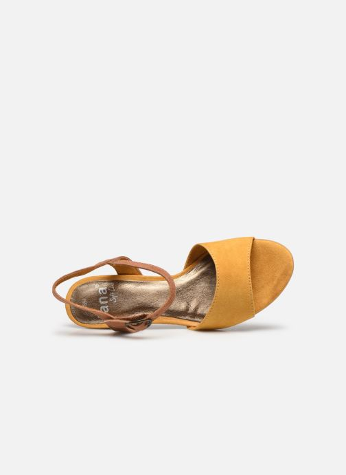 Sandalias Jana shoes JAPH Amarillo vista lateral izquierda