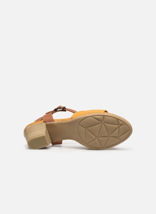 Sandales et nu-pieds Jana shoes JAPH Jaune vue haut
