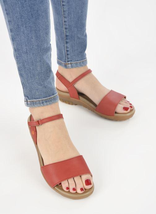 Sandales et nu-pieds Art ANTIBES 1506 Orange vue bas / vue portée sac
