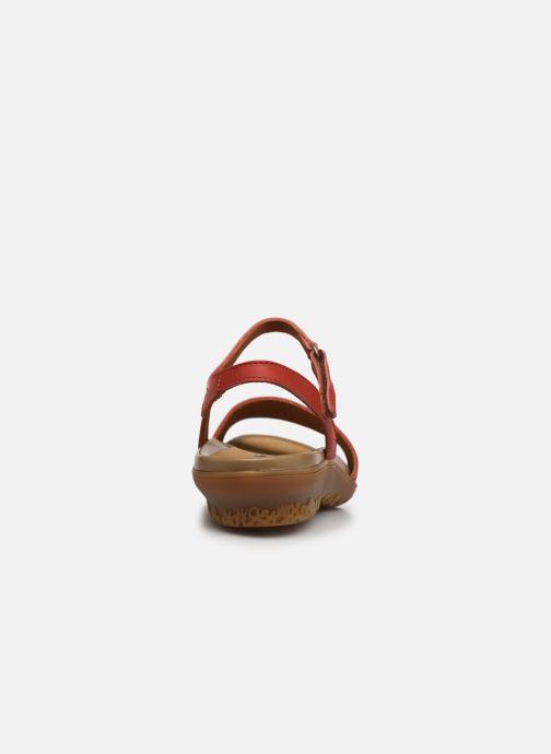 Sandales et nu-pieds Art ANTIBES 1506 Orange vue droite