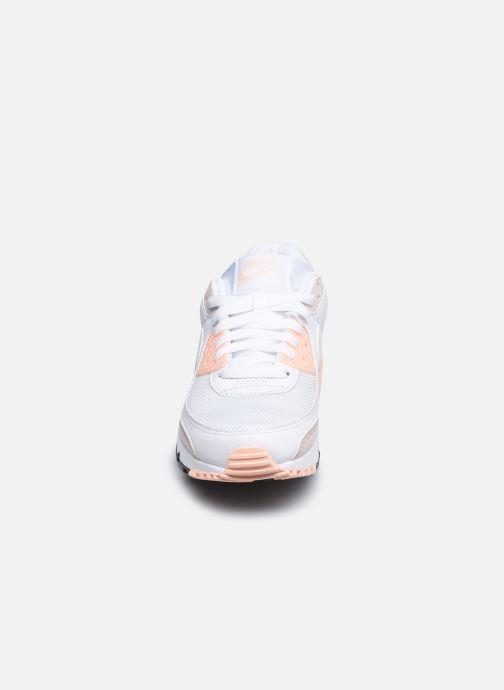 Baskets Nike W Air Max 90 Rose vue portées chaussures