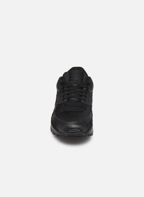 Sneaker Nike W Air Max 90 schwarz schuhe getragen