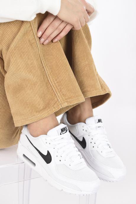 Baskets Nike W Air Max 90 Blanc vue bas / vue portée sac