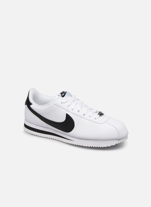 Deportivas Nike Cortez Basic Leather Blanco vista de detalle / par