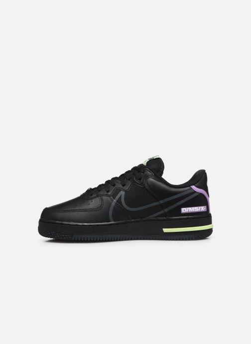 Deportivas Nike Air Force 1 React Negro vista de frente