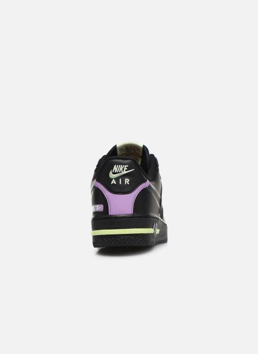 Deportivas Nike Air Force 1 React Negro vista lateral derecha