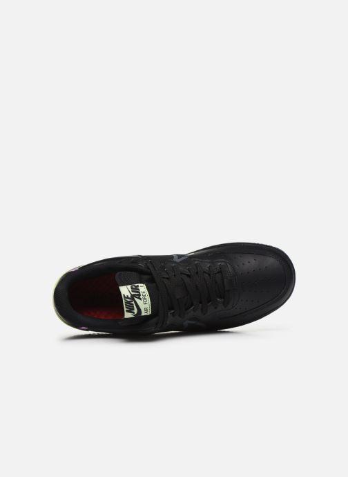 Deportivas Nike Air Force 1 React Negro vista lateral izquierda