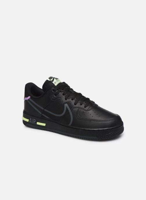 Deportivas Nike Air Force 1 React Negro vista de detalle / par
