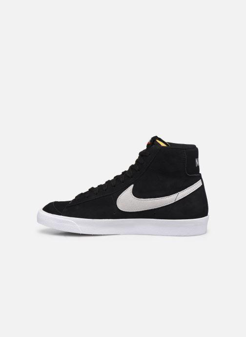 Sneaker Nike Blazer Mid '77 Suede schwarz ansicht von vorne